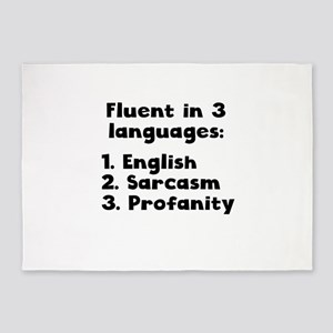 Fluent In 3 Languages 5'x7'Area Rug